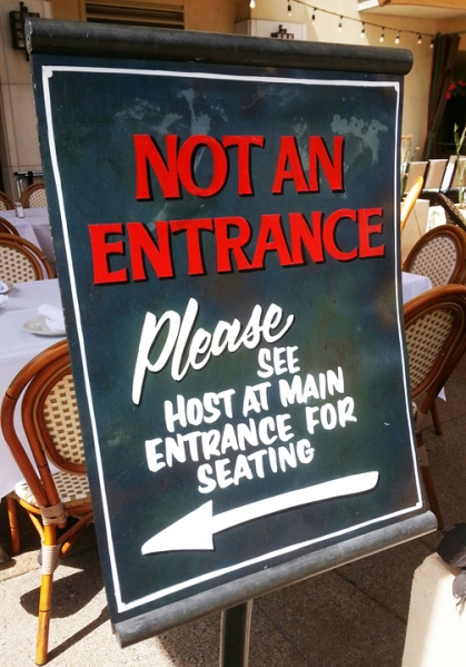 Entrancesign